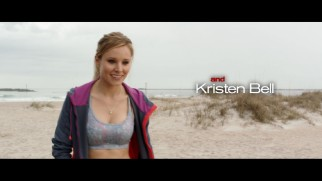 "A sports bra-wearing Kristen Bell takes the ""And"" credit at the end of Stuck in Love's 2.35:1 theatrical trailer."