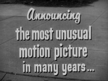 """Unusual"" was apparently a strong selling point for a 1950 trailer."