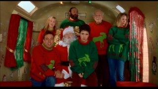 "The rented Valco family does not share Drew's enthusiasm for a picture with Santa Claus in ""Surviving Christmas."""