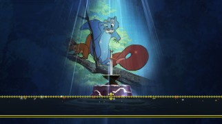Squirrel Wart and Merlin make an appearance on the Blu-ray's animated menu.