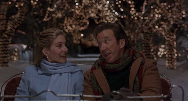 A DeSantafied Scott Calvin (Tim Allen) discovers it's lovely weather for a sleigh ride together with Carol Newman (Elizabeth Mitchell).
