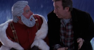 "The DeSantafied Scott (Tim Allen) comes face to face with his evil plastic double in the unnecessary action climax of ""The Santa Clause 2."""