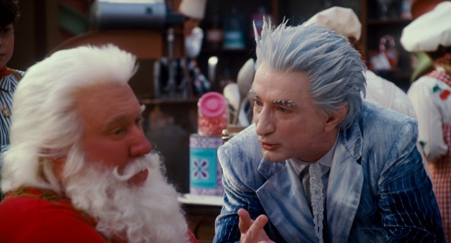 "The conniving Jack Frost (Martin Short) persuades Santa (Tim Allen) to let him help out at the North Pole this Christmas in ""The Santa Clause 3: The Escape Clause."""