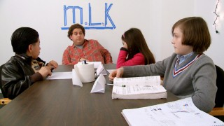 "Taking his executive producer duties seriously, Jonah Hill teaches his young co-stars in the mockumentary short ""Jonah the Producer."""