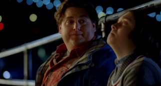 In one of the film's more heartfelt moments, Noah (Jonah Hill) drops some wisdom on anxiety-addled Slater (Max Records).