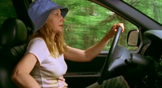 Scatterbrained artist Olivia Harris (Patricia Clarkson) accidentally runs Fin off the road twice on the same day.