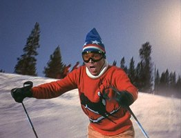 Whoa! It really looks like Dean Jones is skiing!