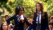 Chastity and Kat stand together to rally against school uniforms in the Volume One's final episode.