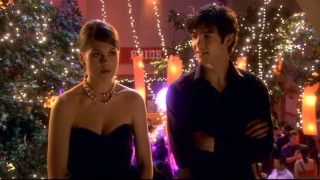 Padua's Fall Fling dance gives Patrick (Ethan Peck) a rare opportunity to see Kat (Lindsey Shaw) in a dress.