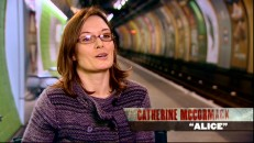 Footage from actress Catherine McCormack's train station interview is seen in the disc's three featurettes.