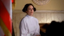 Liz Lemon (Tina Fey) has a fool-proof plan for avoiding jury duty that involves dressing like Princess Leia.