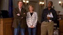 "Harry Anderson, Markie Post, and Charles Robinson appear as themselves and then reprise their roles from ""Night Court"" in this awesomely unexpected blast from the past."