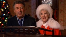 "Jack (Alec Baldwin) and his mother (Elaine Stritch) sing ""The Christmas Song"" at the piano."
