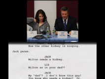 "The best bonus feature on the ""30 Rock"": Season 3 DVD is this full taping of a table read, complete with scrolling script!"