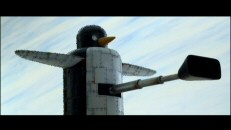 The snowball-scooping giant mechanical penguin reveals another function in this brief deleted scene.