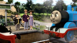 Thomas the Tank Engine's offer to help finish constructing the summer house is met warmly by Sir Topham Hatt (alias The Fat Conductor) and the Duke and Duchess of Boxford.