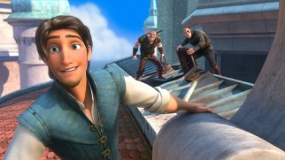 In the midst of a heist with the Stabbington Brothers, outlaw Flynn Rider takes a moment to enjoy the view from the castle roof.