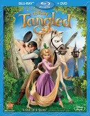 Tangled: Blu-ray + DVD cover art -- click to read our combo pack review