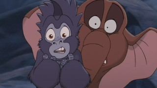While on the trail to rescue their pal, Terk and Tantor get quite a fright.