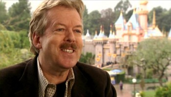 "Imagineering Senior VP Tony Baxter talks in front of Sleeping Beauty Castle for the new documentary ""Disneyland: Secrets, Stories & Magic"" on the Walt Disney Treasures DVD of the same name."