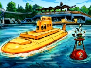 Concept art envisions the Finding Nemo Submarine Voyage, the attraction now open in Disneyland's Tomorrowland that posed many design challenges.