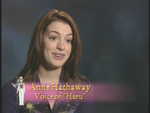 "Anne Hathaway talks about voicing the protagonist in ""Behind the Microphone."""