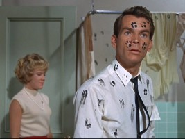Zeke (Dean Jones) has never had this hard of a time getting finger...er, paw prints before.
