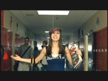 "Christy Carlson Romano performs in a music video for the remixed ""Teacher's Pet"""