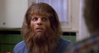 After fleeting teases, Scott Howard (Michael J. Fox) finally goes full werewolf.