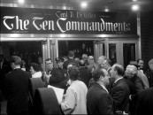 Cast, crew, and some interested celebrities attend the film's New York City premiere briefly documented in this black and white Paramount newsreel.