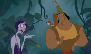 Yzma and Kronk get some help from Bucky the Squirrel.