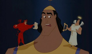 The arrival of shoulder spirits doesn't make Kronk any less confused.