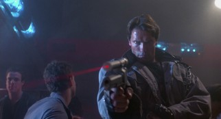 The Terminator (Arnold Schwarzenegger) storms into L.A. club Tech Noir with one purpose: to eliminate another Sarah Connor.