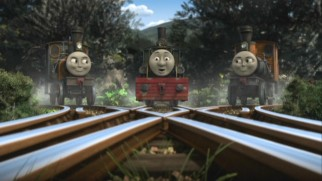 The Logging Locos (Bash, Ferdinand, and Dash) introduce themselves and their oddball ways to Thomas.