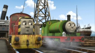 Percy still tries to hold out hope for Thomas' return, but Salty isn't so sure they'll be able to find anything in all the fog.