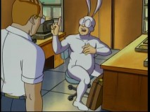 "In the series premiere, Arthur gets fired by The Man for dressing ""like a bunny."""