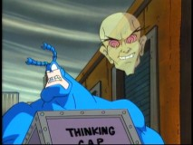 "With his mind being controlled by Mr. Mental, The Tick is led through an act of evil in the aptly-titled ""The Tick vs. Mr. Mental."""
