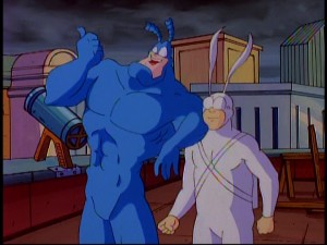 The Tick and Arthur: crime-fighting chums for life.