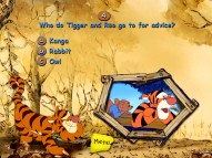 Better think before you click in the Tigger Movie Trivia Game. One wrong answer and you miss out on the neat little bonus video. Good thing it's hella easy.
