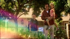 "This 21st Century family stops to admire the rainbow in the short ""Ever Wonder."""