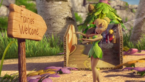 "Tinker Bell welcomes fairies in her third direct-to-video adventure, Disney's ""Tinker Bell and the Great Fairy Rescue."""