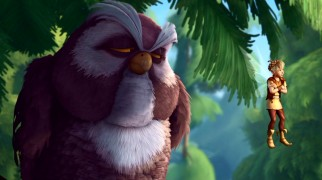 This big, bushy owl is just the audience Terence needs for his rumination on Tink's actions.