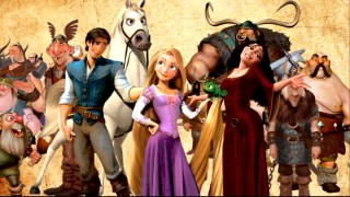 "The cast of Disney's ""Rapunzel"", er, ""Tangled"" appears in a desperation-smacking preview for the film."