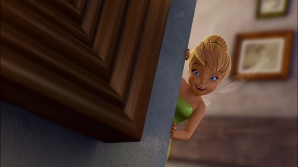 Buckets collecting water from roof leaks give Tinker Bell a good idea. It's tinker time!