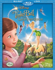 Tinker Bell and the Great Fairy Rescue: Blu-ray + DVD cover art - click to buy combo pack from Amazon.com
