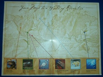 A look at the collectible passport map.