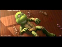 "There's more of Michelangelo's torture as Cowabunga Carl in the extended ""Mikey's Birthday Party"" sequence, though like most other features it's drowned out by commentary."