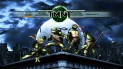 The Turtles strike a heroic pose on the TMNT DVD's mildly-animated Main Menu.