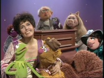 "Lena Horne gazes off into the distance during her ""Sesame Street""-inspired musical moment."