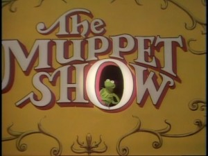 "Kermit the Frog appears in the title logo, as he does at the beginning of each episode of ""The Muppet Show."""